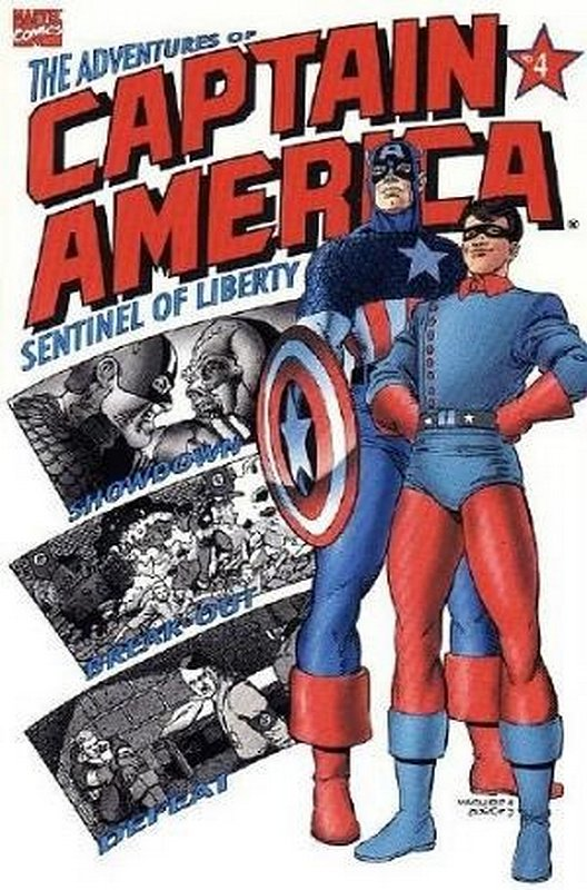 Cover of Adventures of Captain America (1991 Ltd) #4. One of 250,000 Vintage American Comics on sale from Krypton!