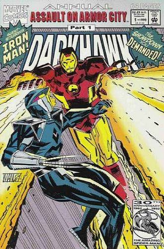 Cover of Darkhawk Annual (Vol 1) #1. One of 250,000 Vintage American Comics on sale from Krypton!