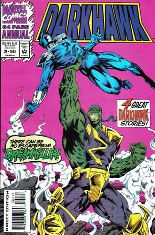 Cover of Darkhawk Annual (Vol 1) #2. One of 250,000 Vintage American Comics on sale from Krypton!