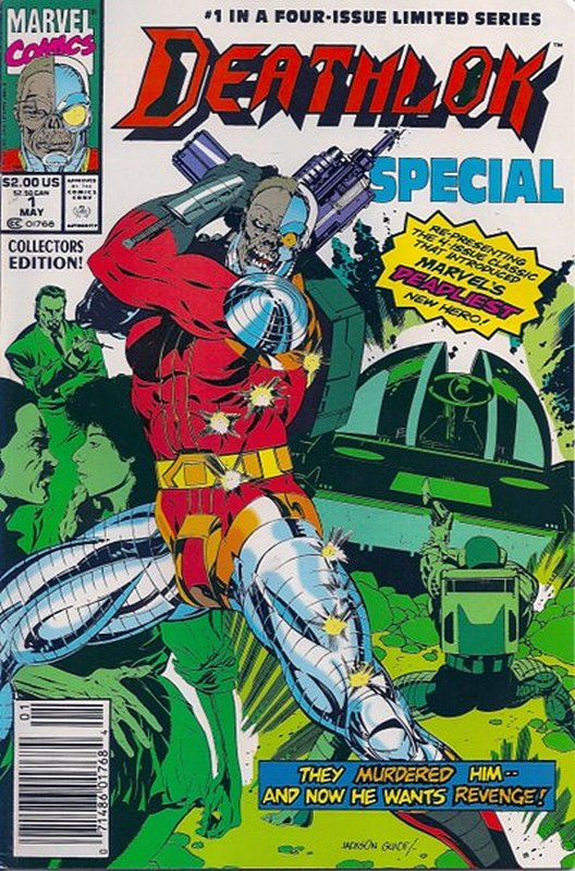 Cover of Deathlok Special (1991) #1. One of 250,000 Vintage American Comics on sale from Krypton!