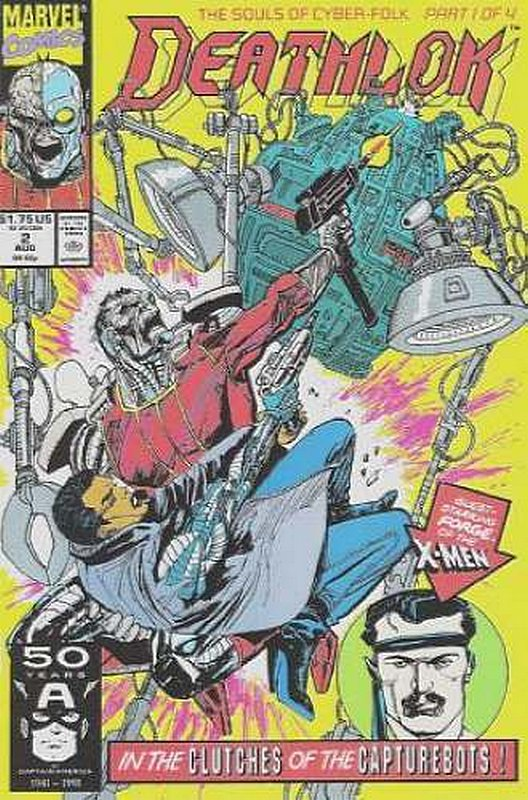 Cover of Deathlok (Vol 1) #2. One of 250,000 Vintage American Comics on sale from Krypton!