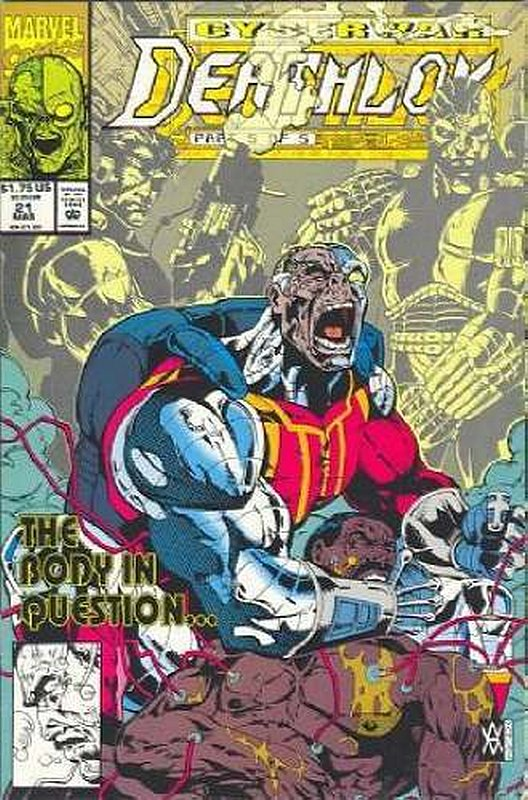 Cover of Deathlok (Vol 1) #21. One of 250,000 Vintage American Comics on sale from Krypton!