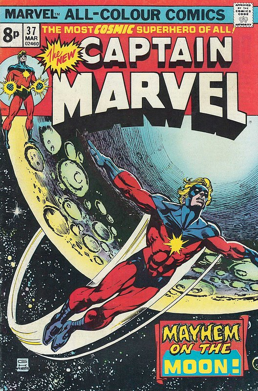 Cover of Captain Marvel (Vol 1) #37. One of 250,000 Vintage American Comics on sale from Krypton!