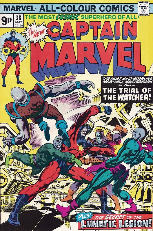 Cover of Captain Marvel (Vol 1) #38. One of 250,000 Vintage American Comics on sale from Krypton!