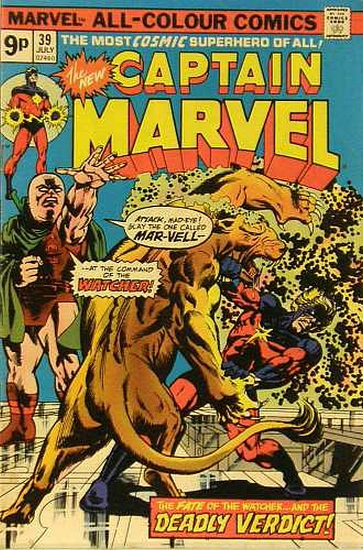 Cover of Captain Marvel (Vol 1) #39. One of 250,000 Vintage American Comics on sale from Krypton!