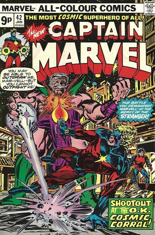 Cover of Captain Marvel (Vol 1) #42. One of 250,000 Vintage American Comics on sale from Krypton!