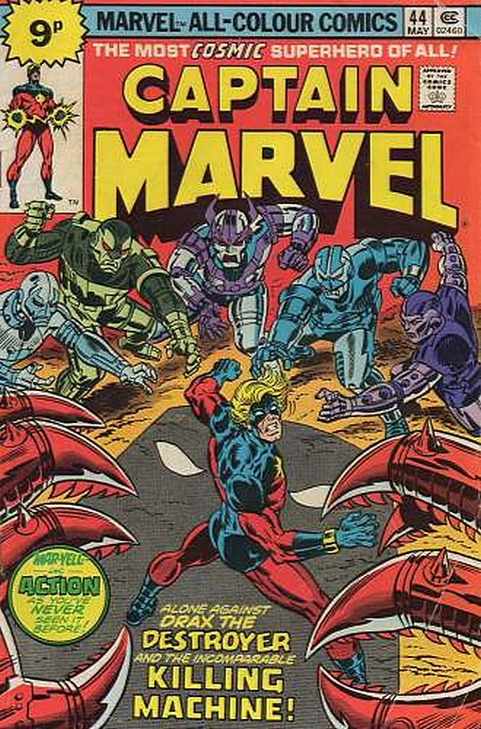 Cover of Captain Marvel (Vol 1) #44. One of 250,000 Vintage American Comics on sale from Krypton!