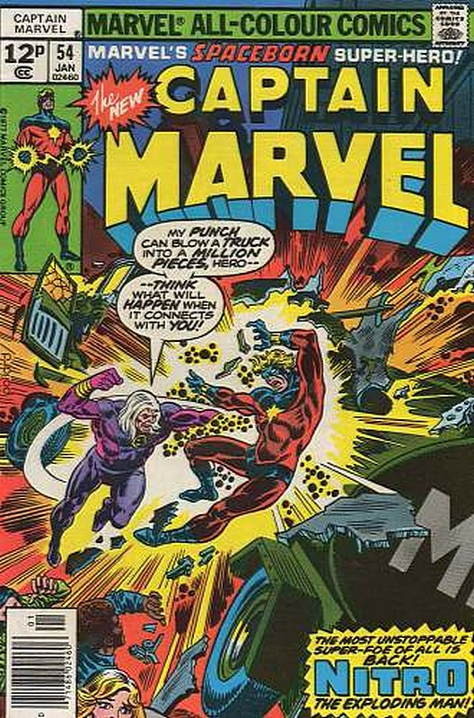 Cover of Captain Marvel (Vol 1) #54. One of 250,000 Vintage American Comics on sale from Krypton!
