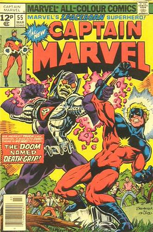 Cover of Captain Marvel (Vol 1) #55. One of 250,000 Vintage American Comics on sale from Krypton!