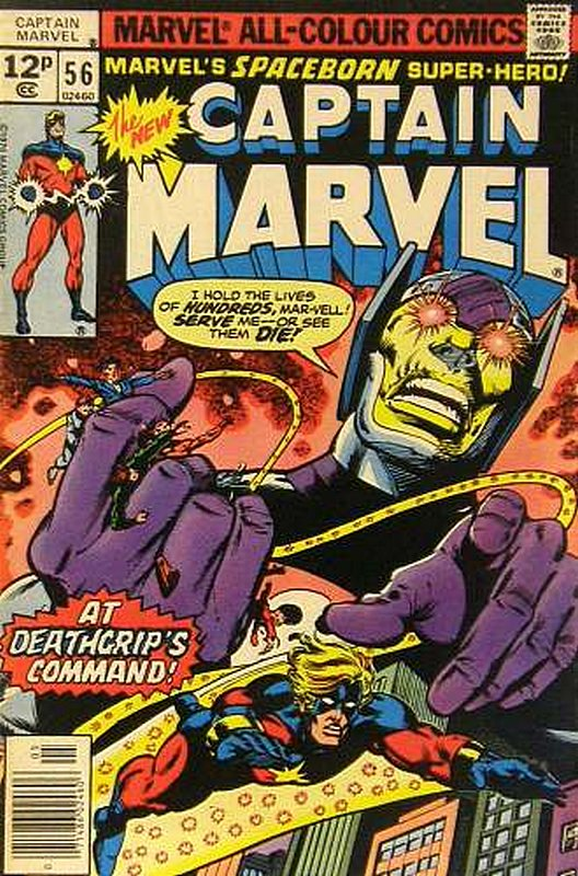 Cover of Captain Marvel (Vol 1) #56. One of 250,000 Vintage American Comics on sale from Krypton!