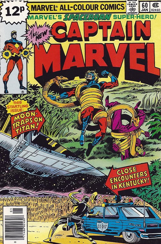 Cover of Captain Marvel (Vol 1) #60. One of 250,000 Vintage American Comics on sale from Krypton!