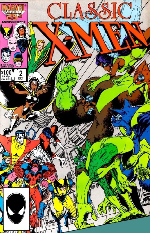 Cover of Classic X-Men #2. One of 250,000 Vintage American Comics on sale from Krypton!