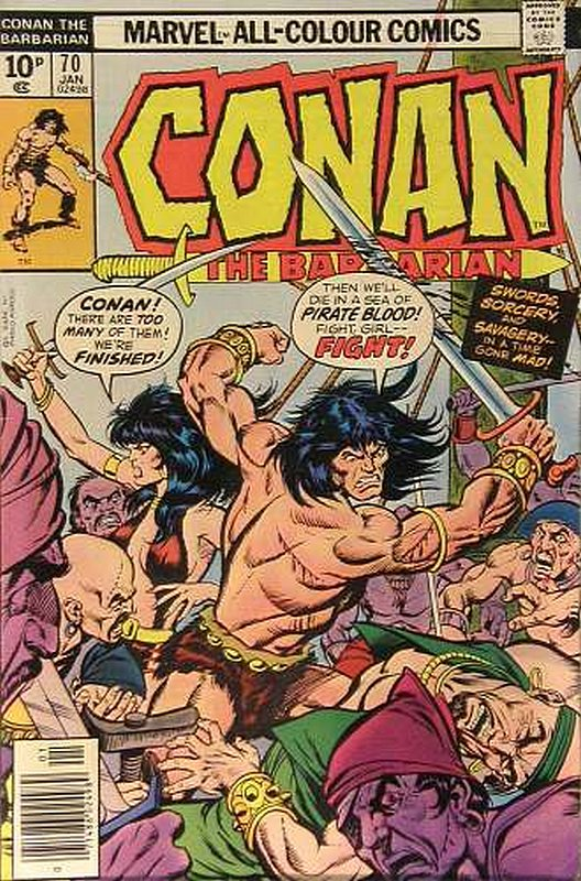 Cover of Conan the Barbarian (Vol 1) #70. One of 250,000 Vintage American Comics on sale from Krypton!