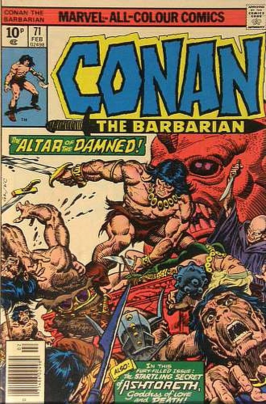 Cover of Conan the Barbarian (Vol 1) #71. One of 250,000 Vintage American Comics on sale from Krypton!