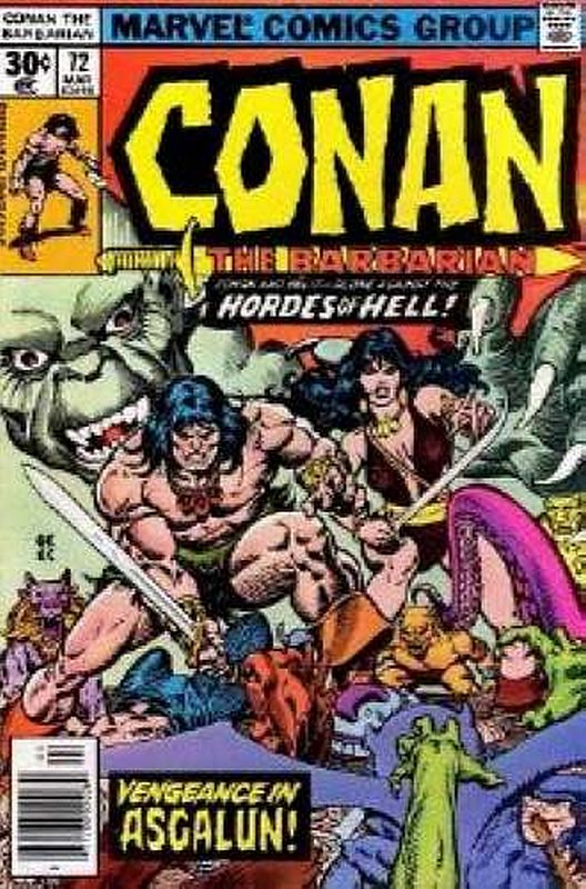 Cover of Conan the Barbarian (Vol 1) #72. One of 250,000 Vintage American Comics on sale from Krypton!