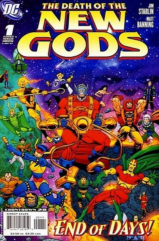 Cover of Death of the New Gods (2007 Ltd) #1. One of 250,000 Vintage American Comics on sale from Krypton!