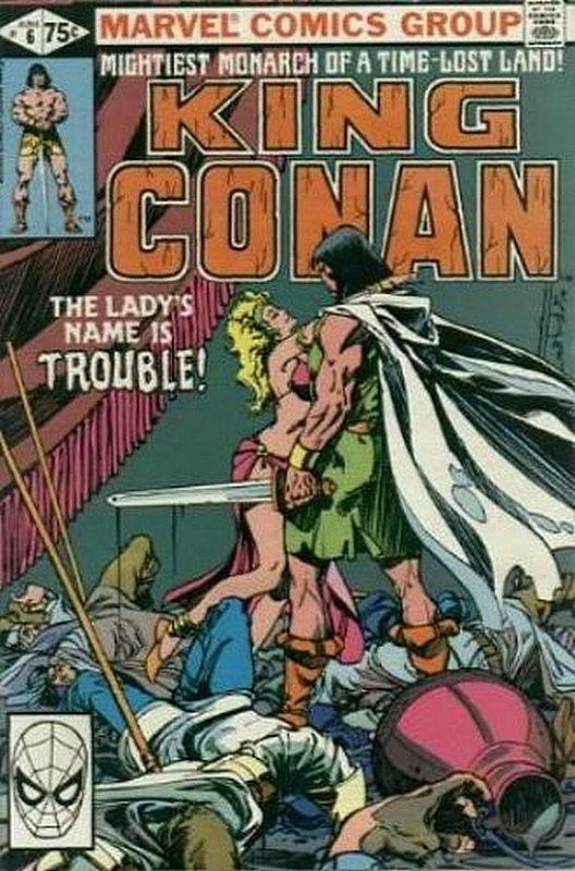 Cover of Conan the King (Vol 1) #6. One of 250,000 Vintage American Comics on sale from Krypton!