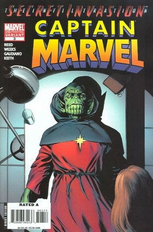 Cover of Captain Marvel (2007 Ltd) #3. One of 250,000 Vintage American Comics on sale from Krypton!