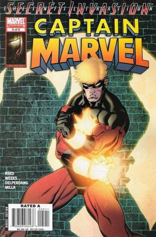 Cover of Captain Marvel (2007 Ltd) #5. One of 250,000 Vintage American Comics on sale from Krypton!