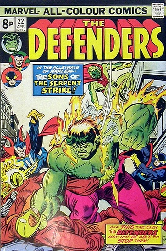 Cover of Defenders (Vol 1) #22. One of 250,000 Vintage American Comics on sale from Krypton!