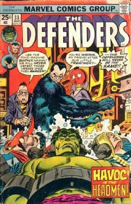 Cover of Defenders (Vol 1) #33. One of 250,000 Vintage American Comics on sale from Krypton!