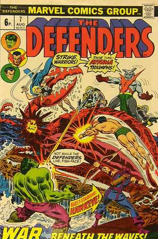 Cover of Defenders (Vol 1) #7. One of 250,000 Vintage American Comics on sale from Krypton!