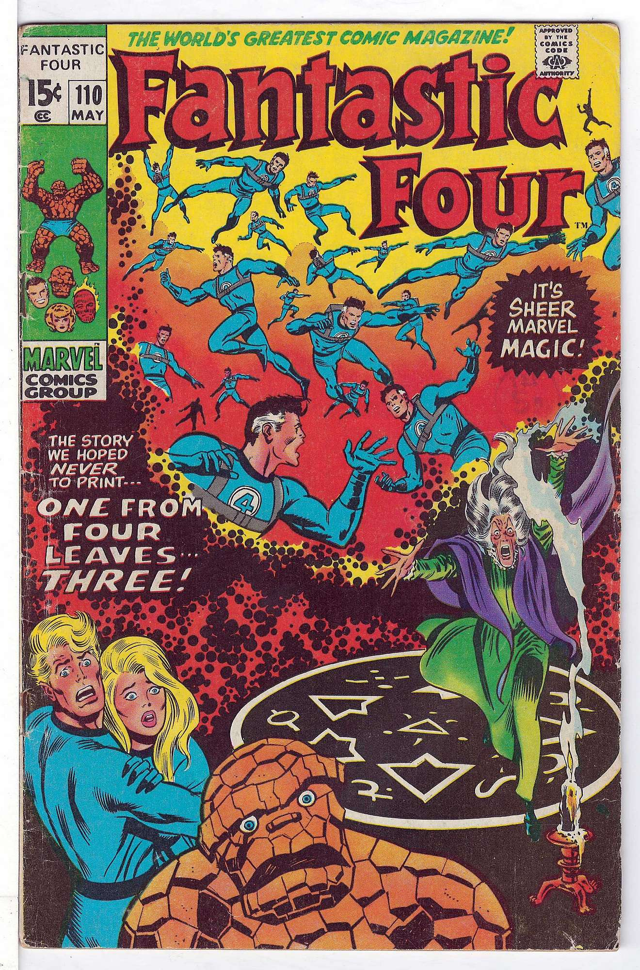 Cover of Fantastic Four (Vol 1) #110. One of 250,000 Vintage American Comics on sale from Krypton!