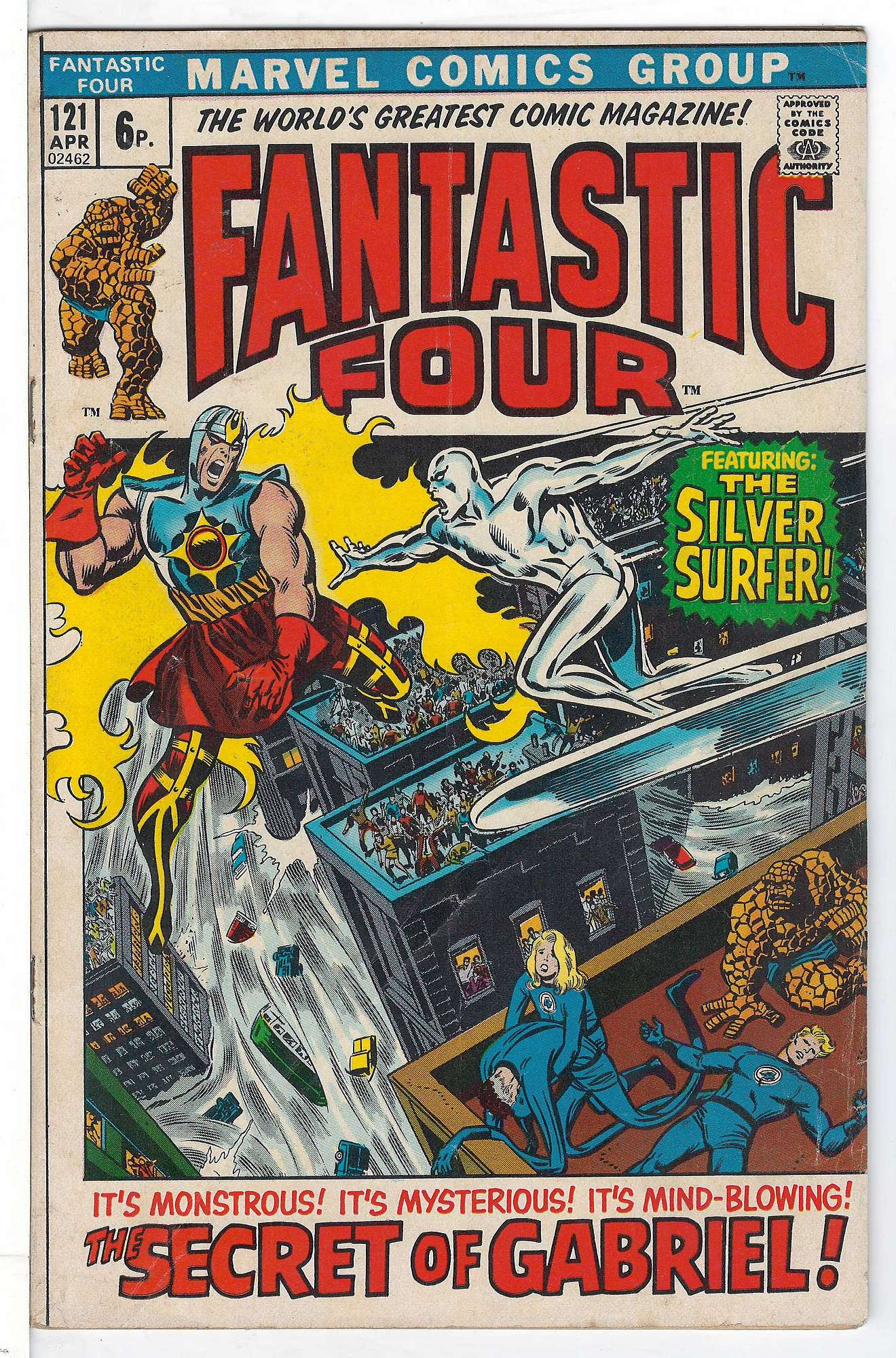 Cover of Fantastic Four (Vol 1) #121. One of 250,000 Vintage American Comics on sale from Krypton!