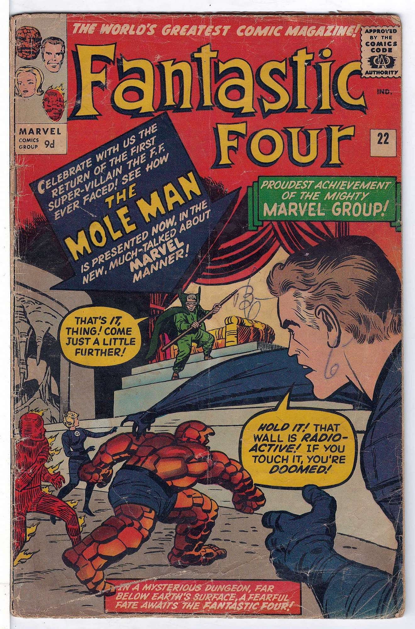 Cover of Fantastic Four (Vol 1) #22. One of 250,000 Vintage American Comics on sale from Krypton!