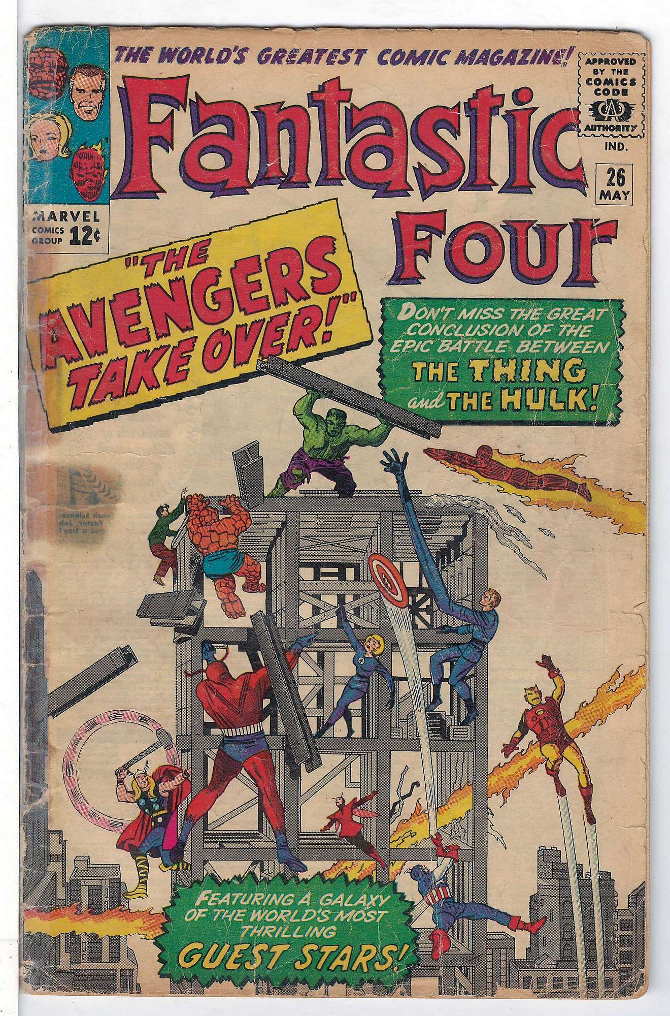 Cover of Fantastic Four (Vol 1) #26. One of 250,000 Vintage American Comics on sale from Krypton!