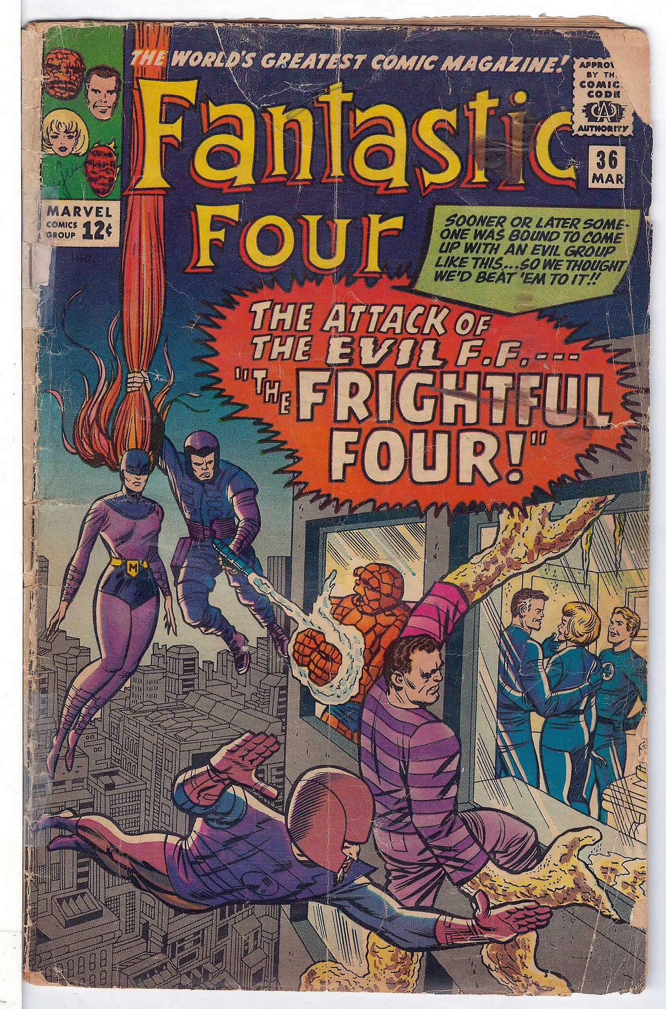 Cover of Fantastic Four (Vol 1) #36. One of 250,000 Vintage American Comics on sale from Krypton!