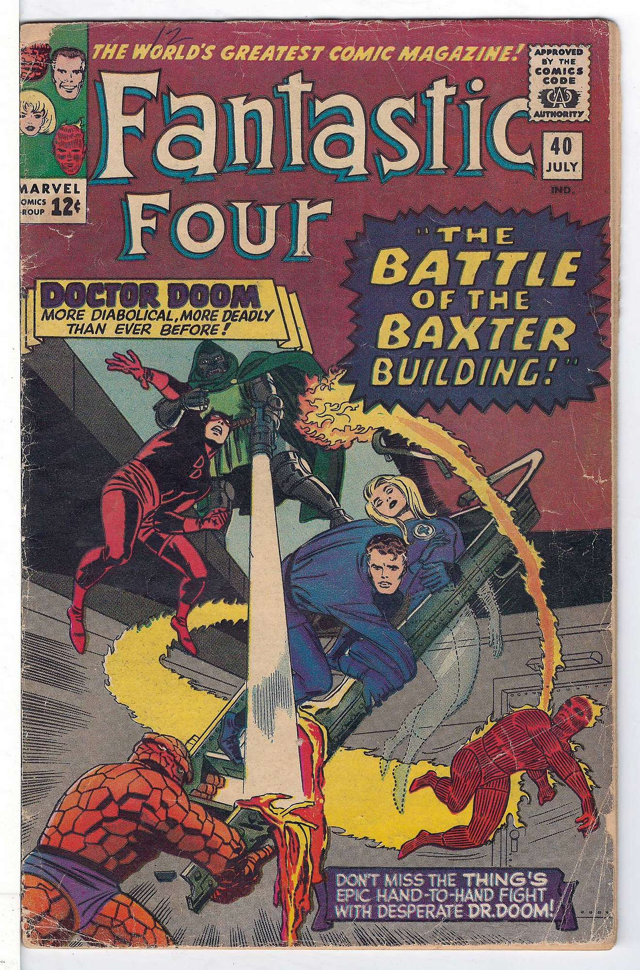 Cover of Fantastic Four (Vol 1) #40. One of 250,000 Vintage American Comics on sale from Krypton!