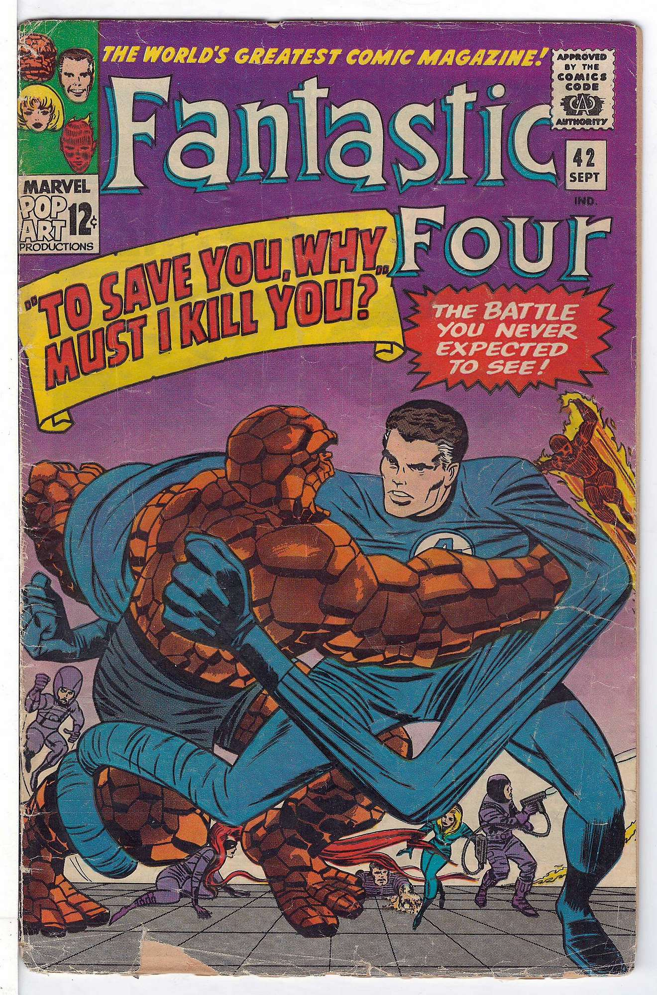 Cover of Fantastic Four (Vol 1) #42. One of 250,000 Vintage American Comics on sale from Krypton!