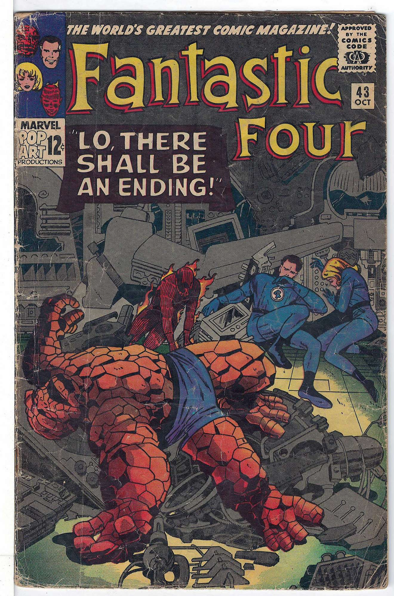 Cover of Fantastic Four (Vol 1) #43. One of 250,000 Vintage American Comics on sale from Krypton!