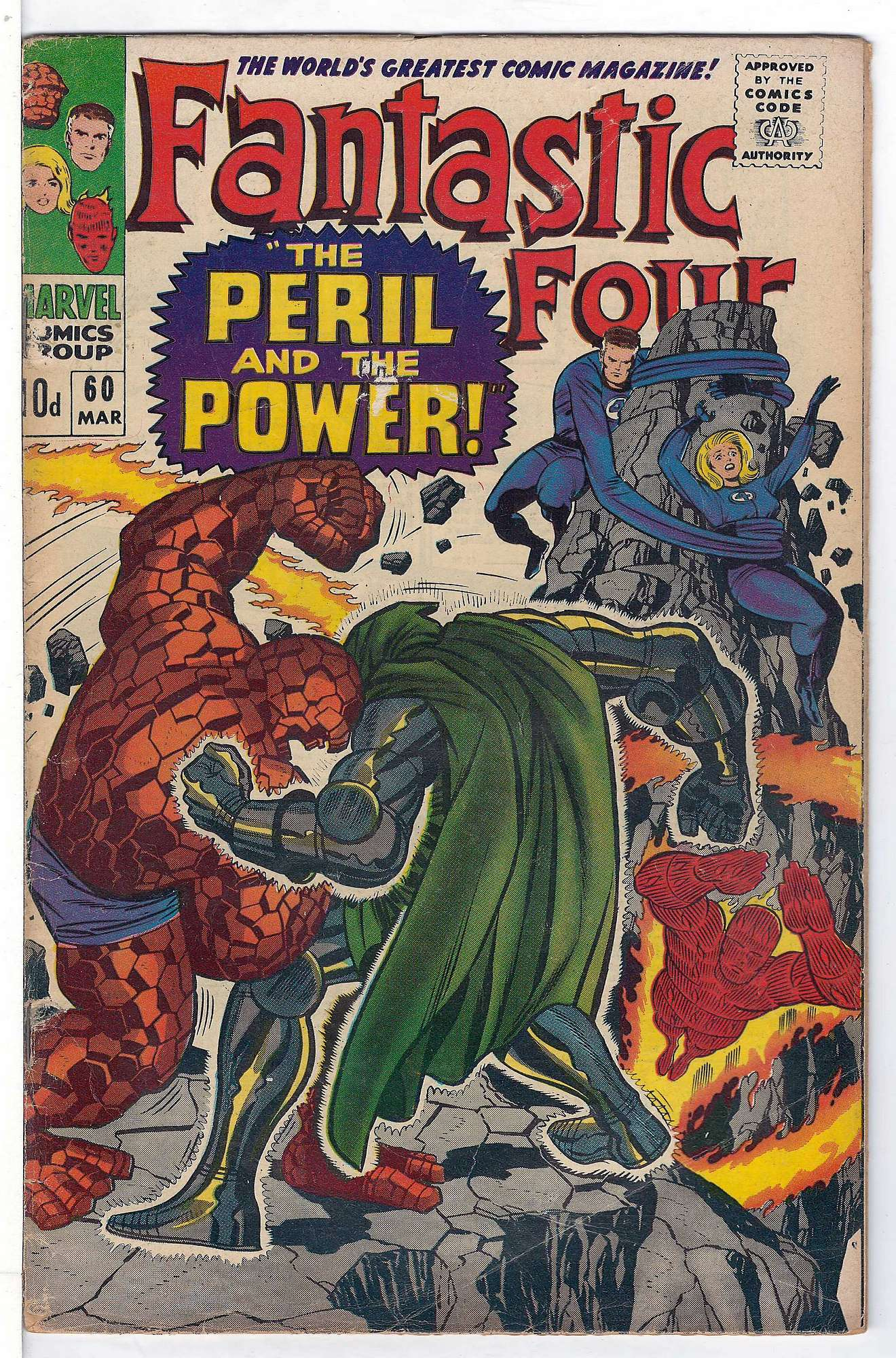 Cover of Fantastic Four (Vol 1) #60. One of 250,000 Vintage American Comics on sale from Krypton!