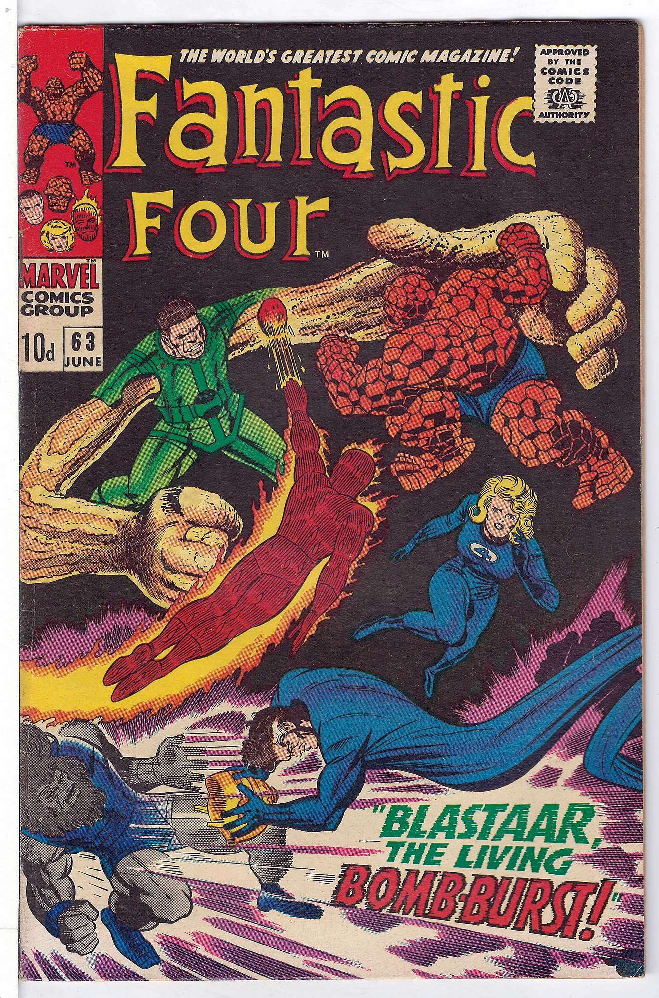 Cover of Fantastic Four (Vol 1) #63. One of 250,000 Vintage American Comics on sale from Krypton!