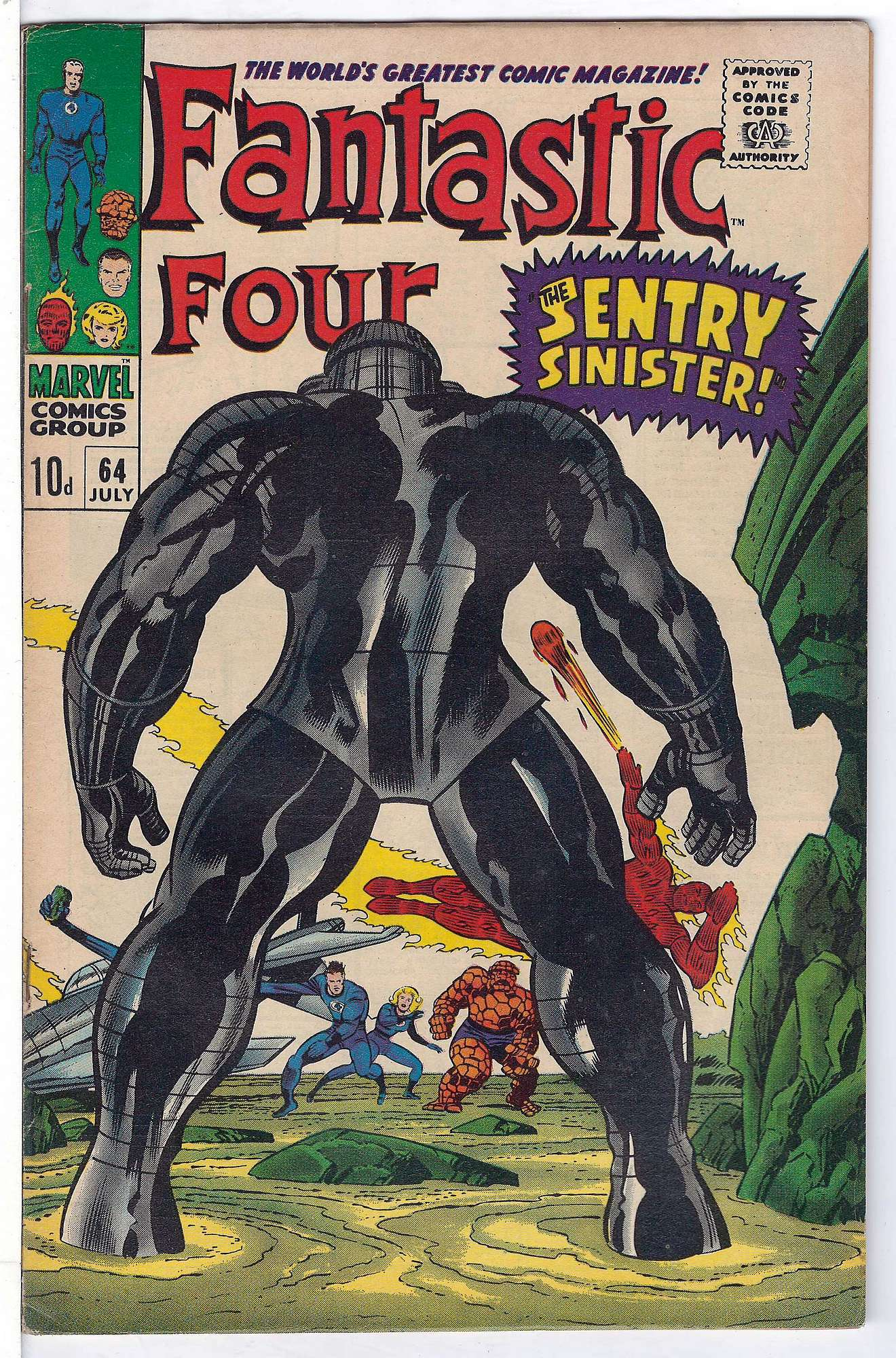 Cover of Fantastic Four (Vol 1) #64. One of 250,000 Vintage American Comics on sale from Krypton!
