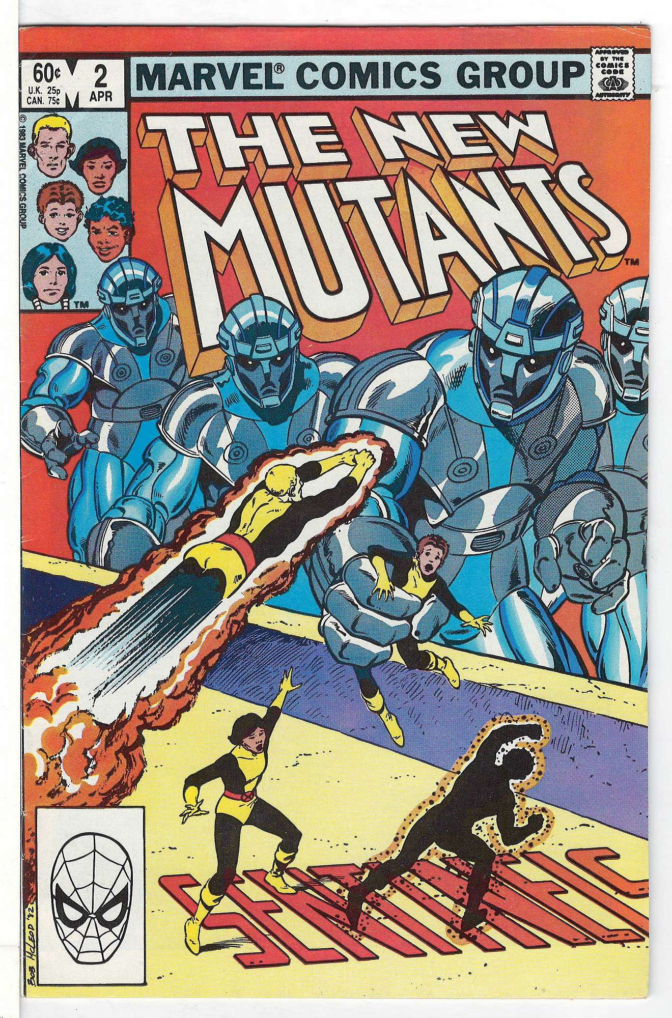 Cover of New Mutants (Vol 1) #2. One of 250,000 Vintage American Comics on sale from Krypton!