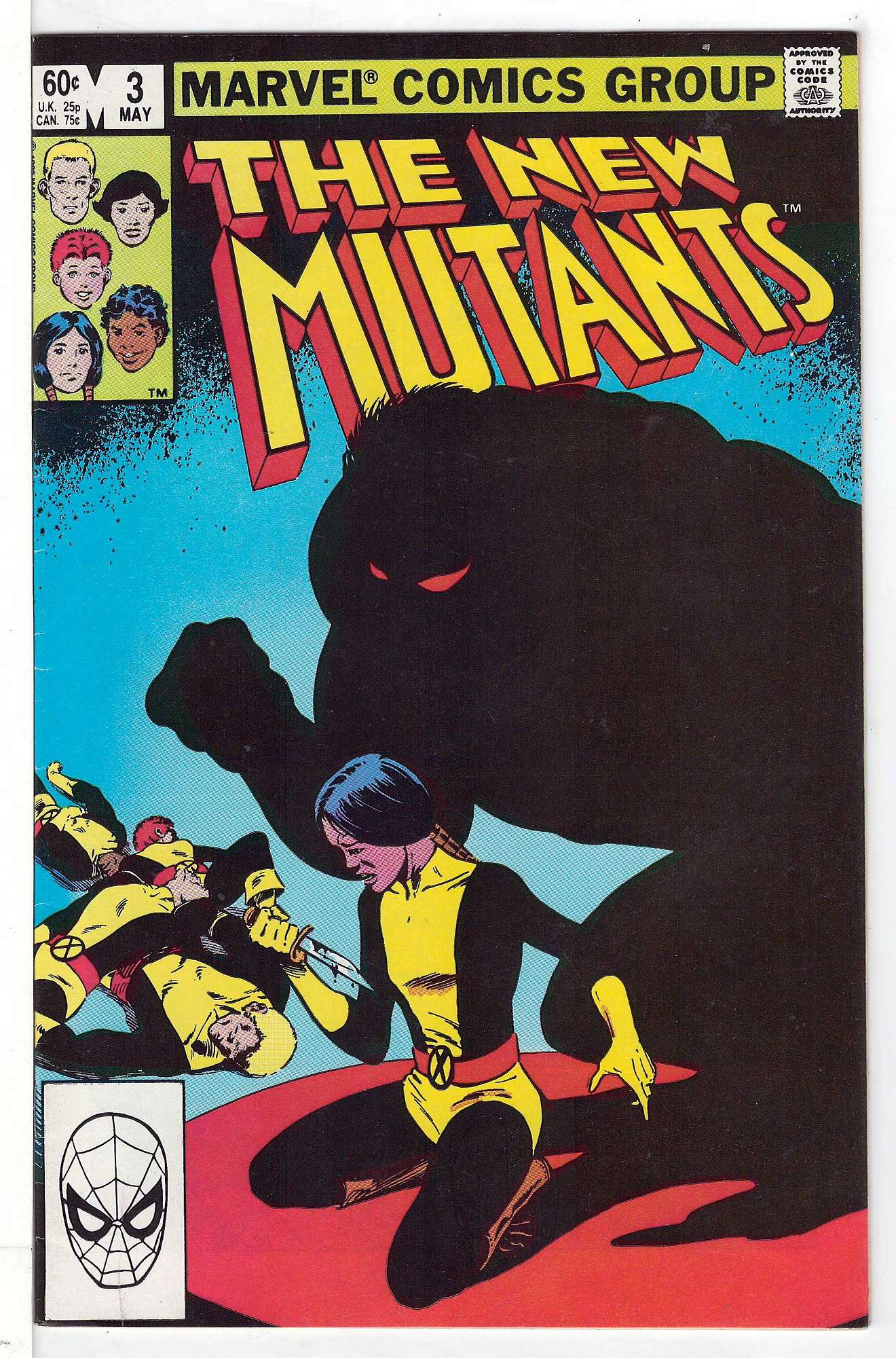 Cover of New Mutants (Vol 1) #3. One of 250,000 Vintage American Comics on sale from Krypton!