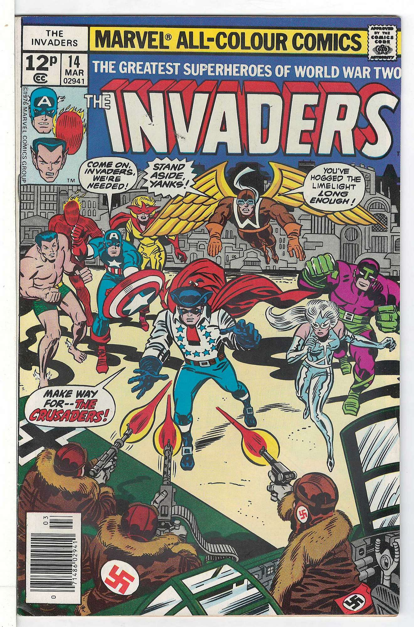 Cover of Invaders (Vol 1) #14. One of 250,000 Vintage American Comics on sale from Krypton!