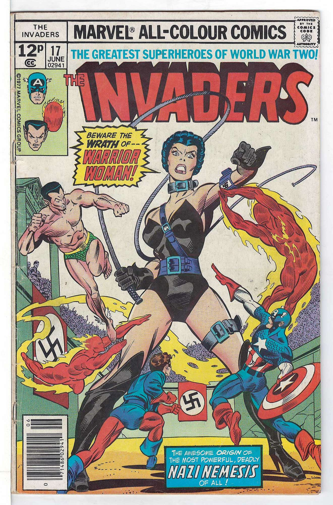 Cover of Invaders (Vol 1) #17. One of 250,000 Vintage American Comics on sale from Krypton!