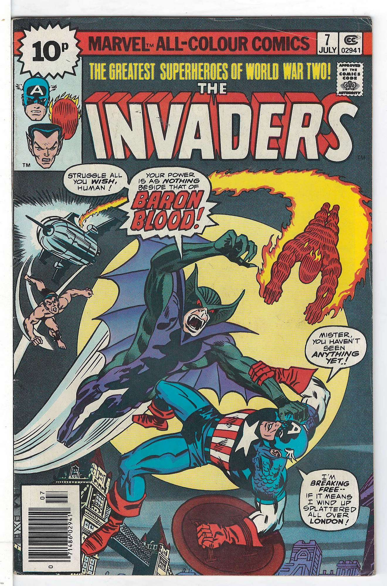 Cover of Invaders (Vol 1) #7. One of 250,000 Vintage American Comics on sale from Krypton!