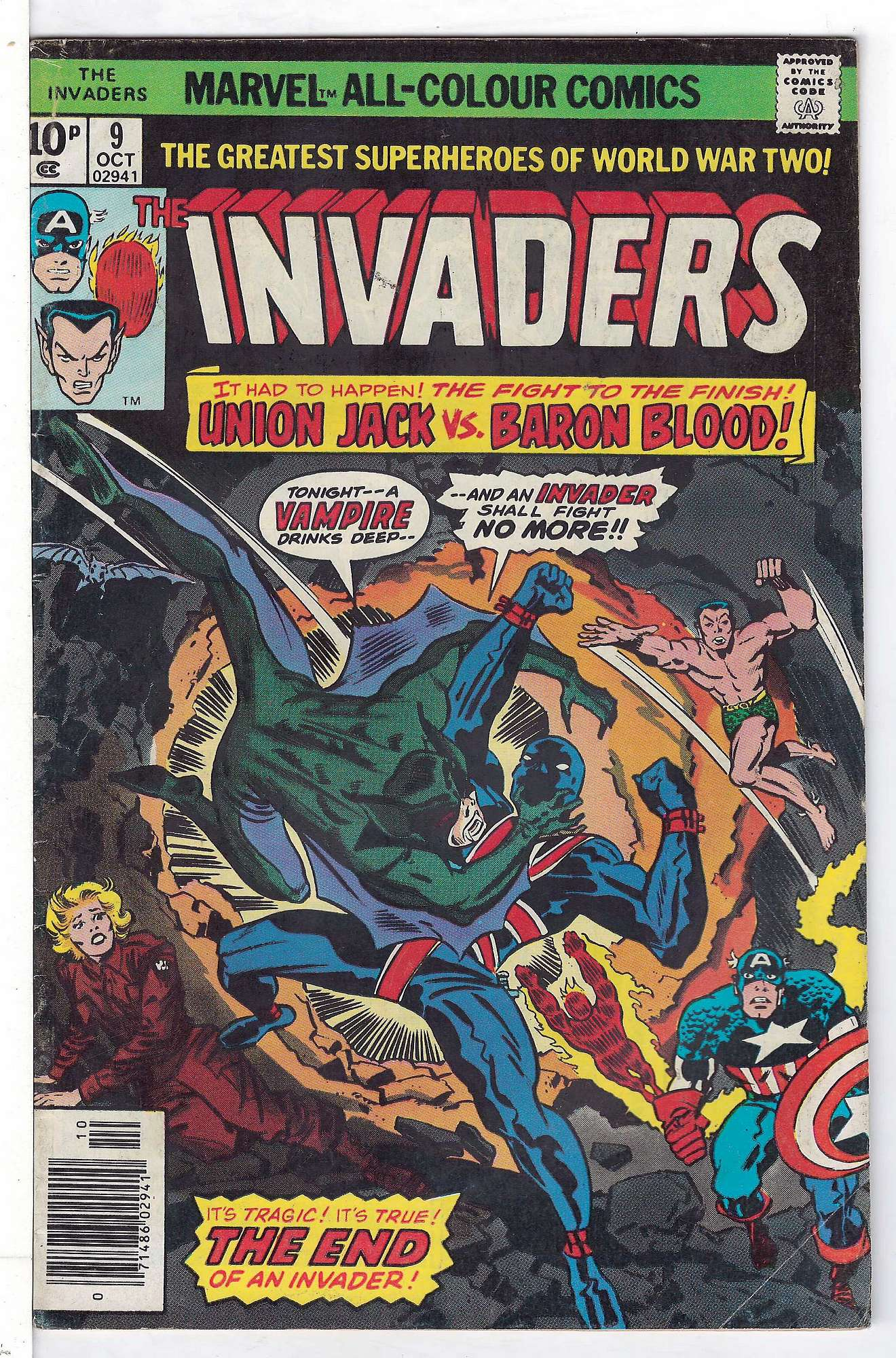 Cover of Invaders (Vol 1) #9. One of 250,000 Vintage American Comics on sale from Krypton!