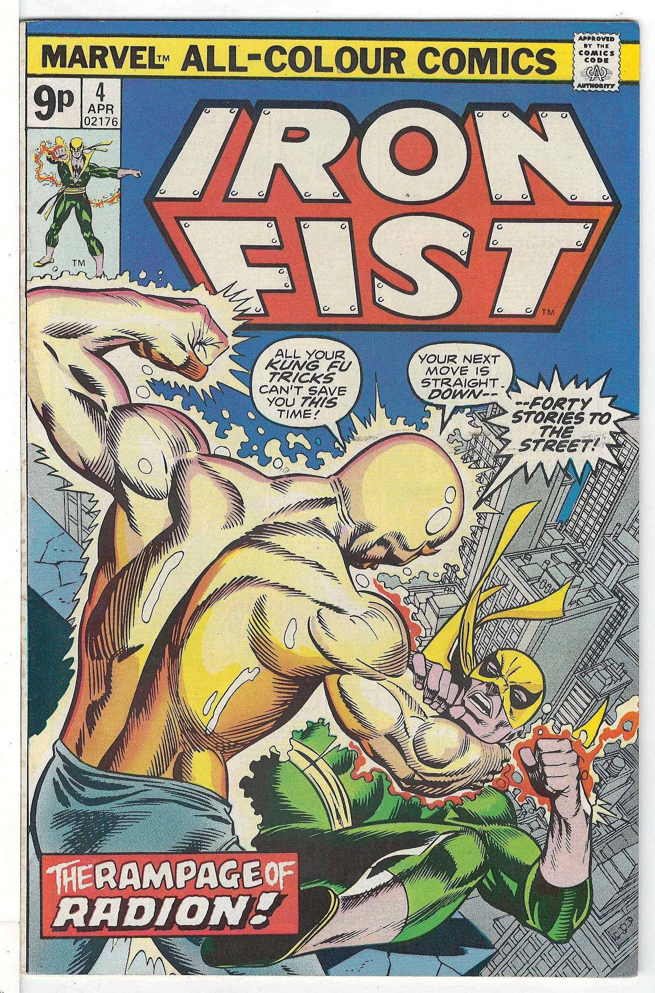 Cover of Iron Fist (Vol 1) #4. One of 250,000 Vintage American Comics on sale from Krypton!
