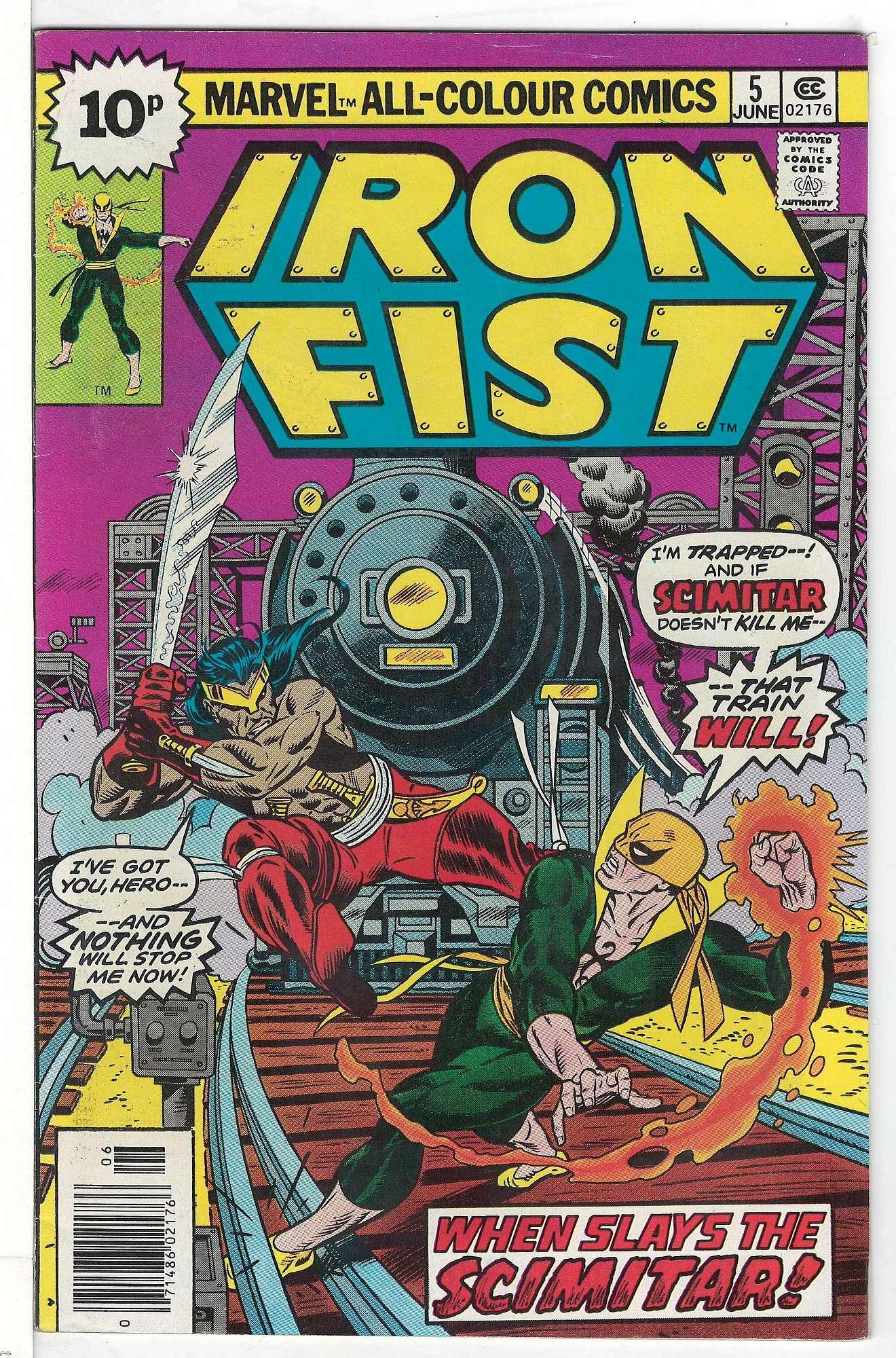 Cover of Iron Fist (Vol 1) #5. One of 250,000 Vintage American Comics on sale from Krypton!