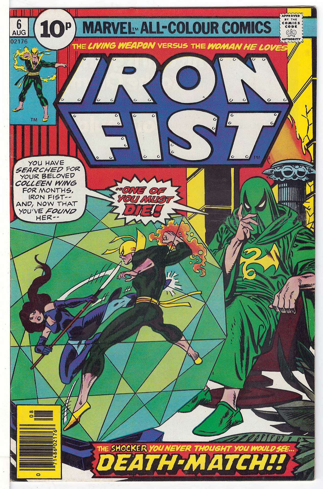 Cover of Iron Fist (Vol 1) #6. One of 250,000 Vintage American Comics on sale from Krypton!
