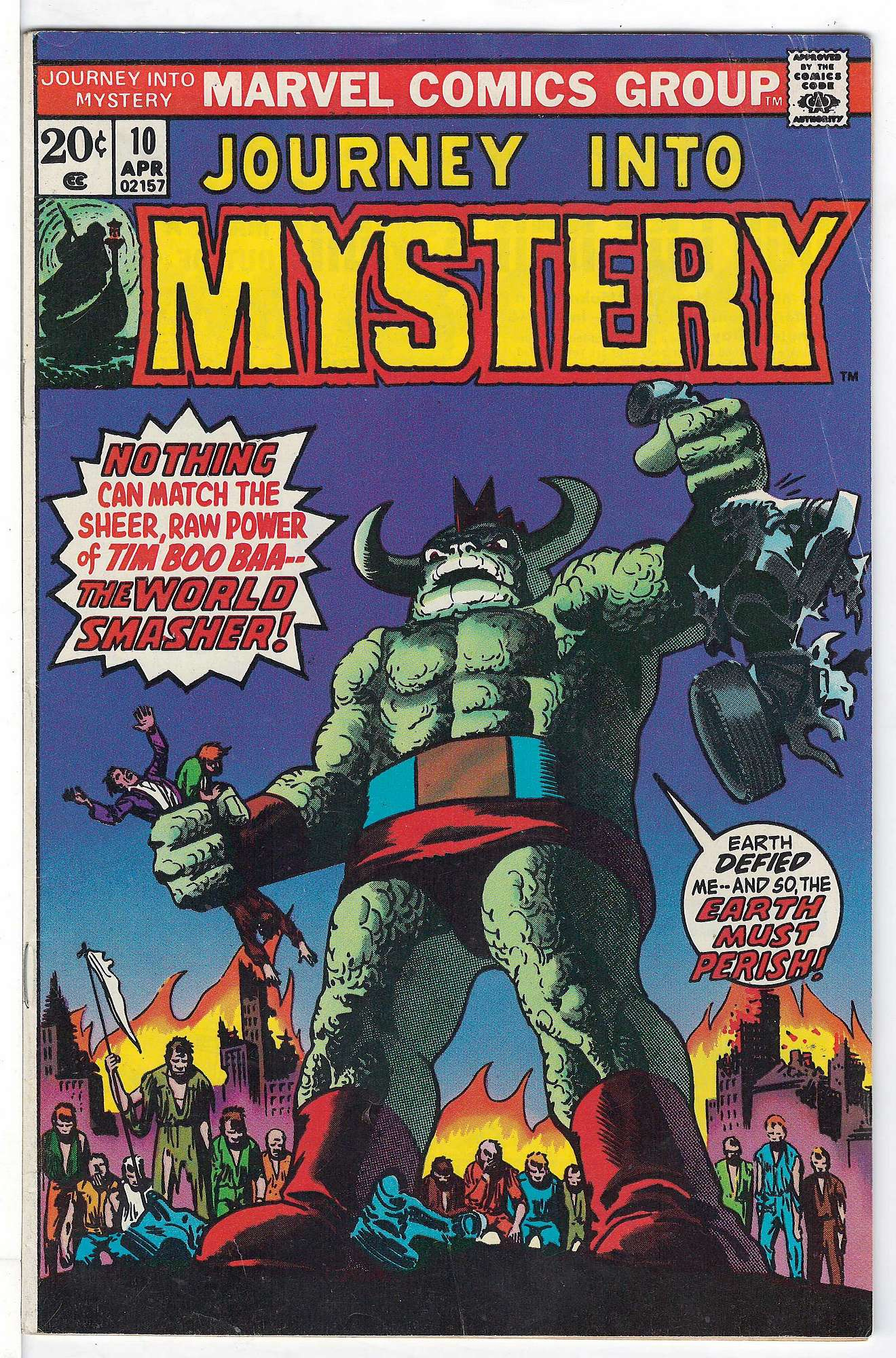 Cover of Journey Into Mystery (Vol 2) #10. One of 250,000 Vintage American Comics on sale from Krypton!