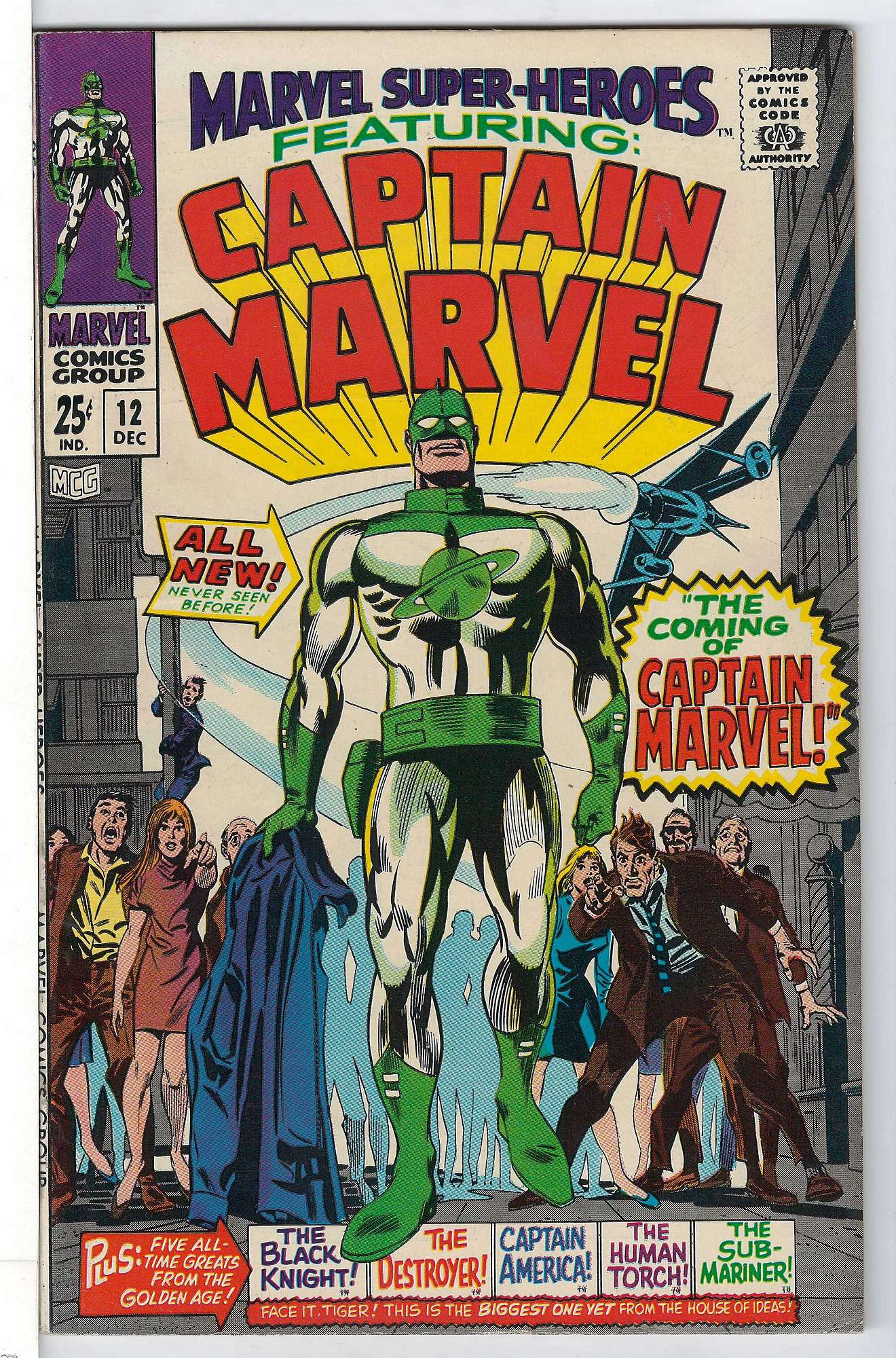 Cover of Marvel Super-Heroes (Vol 1) #12. One of 250,000 Vintage American Comics on sale from Krypton!