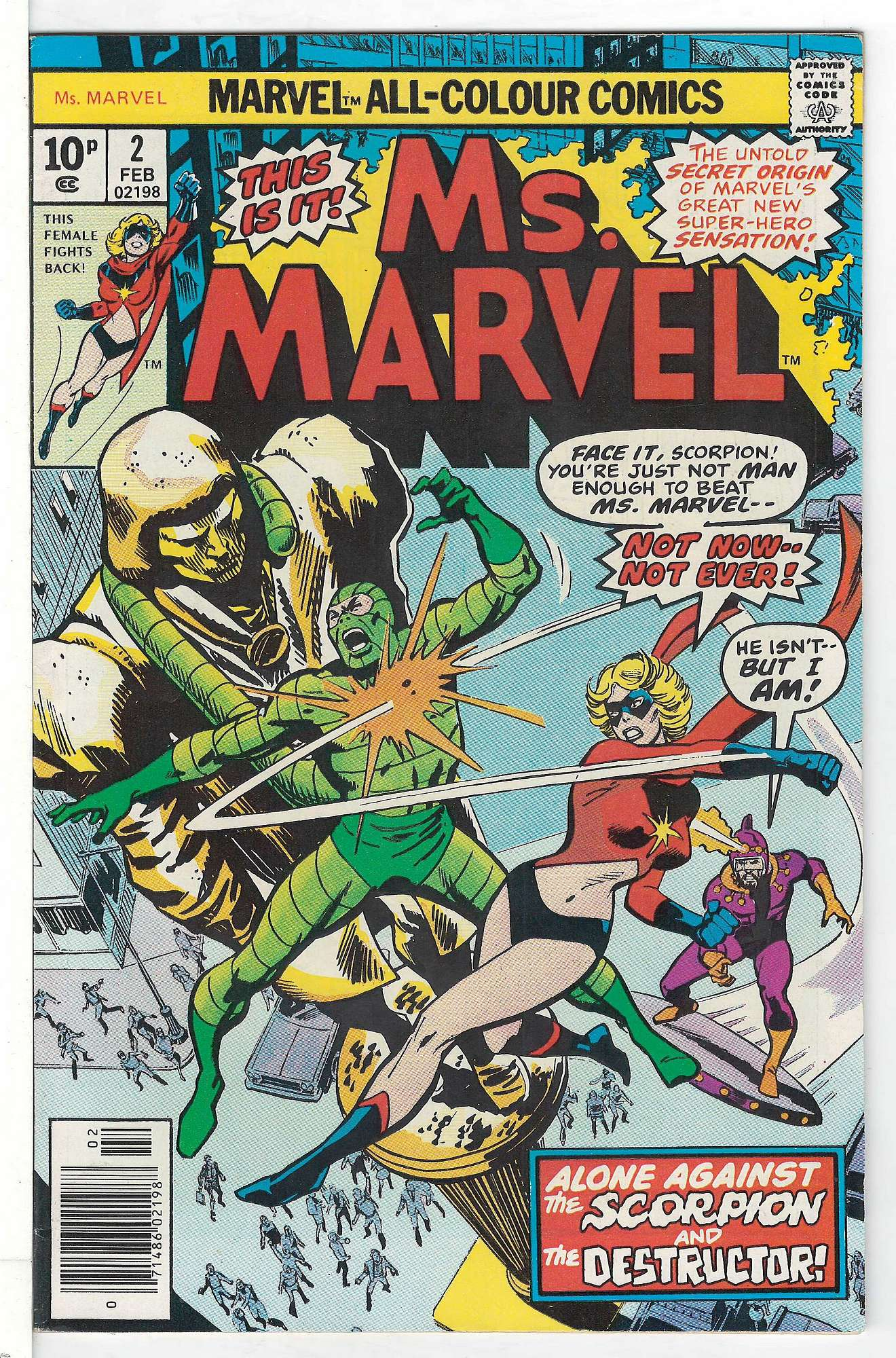 Cover of Ms Marvel (Vol 1) #2. One of 250,000 Vintage American Comics on sale from Krypton!