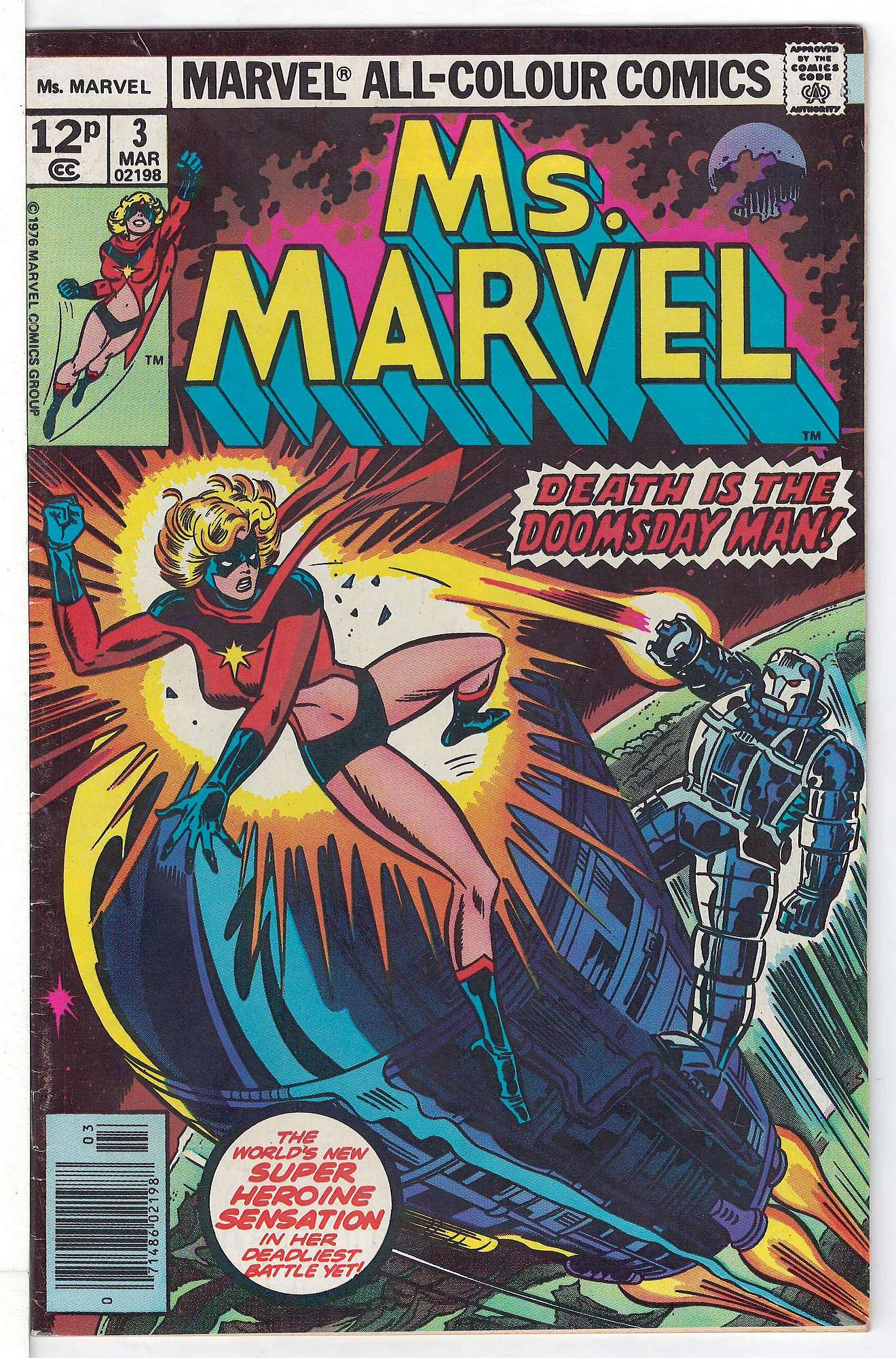 Cover of Ms Marvel (Vol 1) #3. One of 250,000 Vintage American Comics on sale from Krypton!